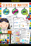 States of Matter – Solid, Liquid and Gas WITH Worksheets and Activities