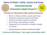 States of Matter: Solids, Liquids and Gases [Interactive W