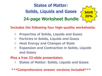 States of Matter: Solids, Liquids and Gases [Print Workshe