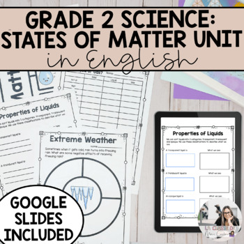 States of Matter: Solids, Liquids and Gases Unit (English Version)