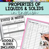 Grade 2 - States of Matter: Properties of Solids & Liquids