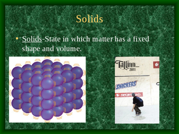 States of Matter-Solids, Liquids, and Gases