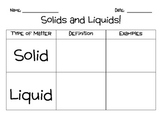 States of Matter- Solids and Liquids