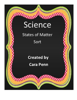 States of Matter Sort