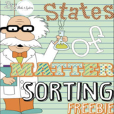 States of Matter Sort FREEBIE