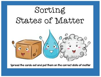 States of Matter Sort FREEBIE