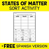 States of Matter Sort Activity