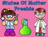 States of Matter Sorting Center Freebie