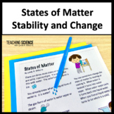 States of Matter Stability and Change Lab and Interactive Notebook
