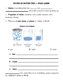 States of Matter Study Guide/Answer Key
