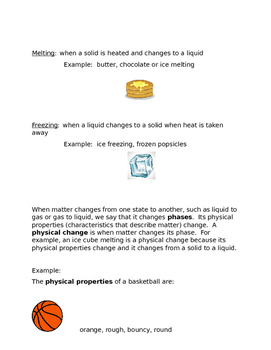 States of Matter Study Guide and Test--Editable!