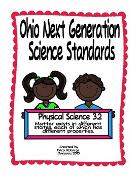 States of Matter Tab Booklet (Ohio PS 3.2)