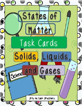 States of Matter Task Card Activity Packet