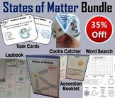 States of Matter Task Cards and Activities Bundle