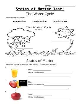 States of Matter - Test
