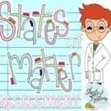 States of Matter Test and Study Guide (Solids, Liquids, Ga