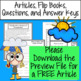 States of Matter & The Water Cycle Articles, Flip Books, Q