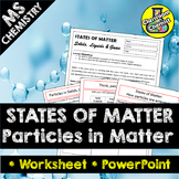 States of Matter:  The particle model of solids, liquids &
