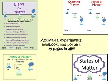States of Matter Unit Pack