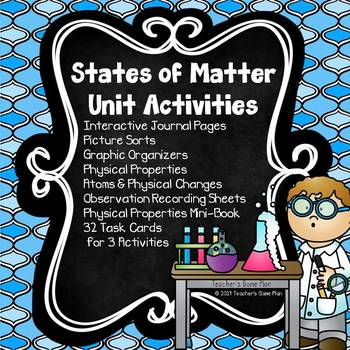 States of Matter Unit Picture Sorts, Interactive Journals and Activities