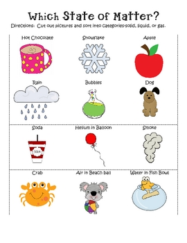 3rd grade science matter worksheets