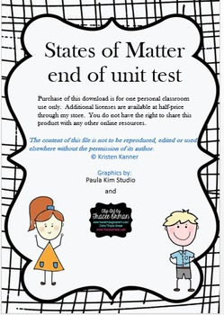 States of Matter Unit Test