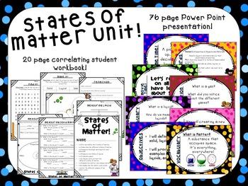 States of Matter Unit & Workbook
