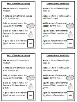 States of Matter Vocabulary