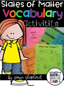 States of Matter Vocabulary Activities
