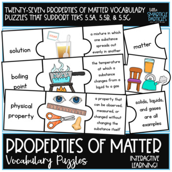 States of Matter Vocabulary Puzzle Cards