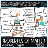 Properties of Matter Vocabulary Puzzle Cards