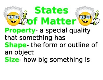 States of Matter Vocabulary Word Wall