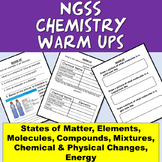 NGSS MS-PS1-1, MS-PS1-3, MS-PS1-4: Chemistry Warm Ups/Bell Ringers