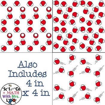 States of Matter - Water Clipart and Digital Paper Set: Steam, Liquid, and Ice