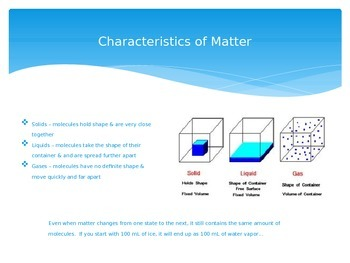 States of Matter & Water Cycle PowerPoint