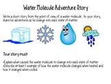 States of Matter:  Water Molecule Point-of-View Writing Assignment