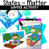 States of Matter Winter Color by Number Review Solid Liquid Gas Activity