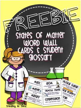 States of Matter Word Wall {FREEBIE}