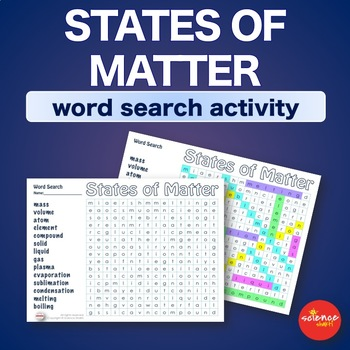States of Matter * WordSearch * Vocabulary * Warm Up * Bell Ringer *