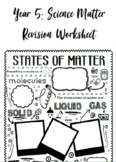 States of Matter | Year 5 SCIENCE doodle revision sheet (A
