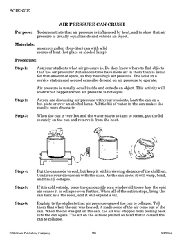 States of Matter and Containers
