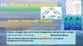 States of Matter and Physical Equilibrium PowerPoint