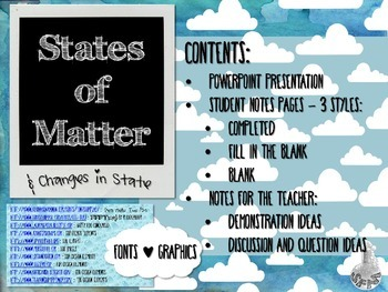 States of Matter and Gas Laws Unit