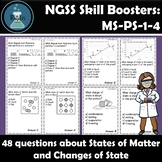 States of Matter and Phase Changes Task Cards NGSS Skill B