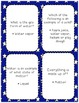 States of Matter and Water Cycle Quiz & Vocabulary Cards