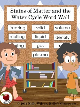 States of Matter Water Cycle Word Wall