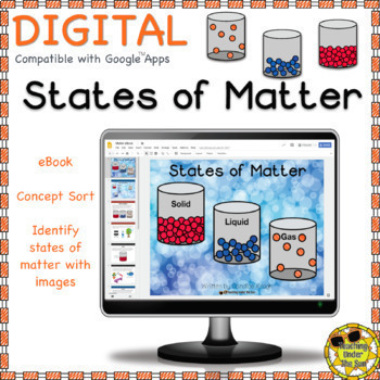 States of Matter, digital, ebook, printable, text features, Science