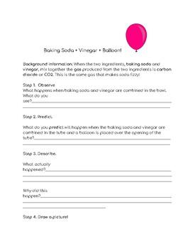 Baking Soda Vinegar Lab Worksheets & Teaching Resources | TpT