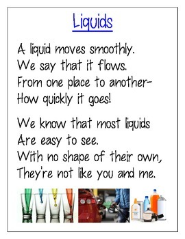 States of Matter poems