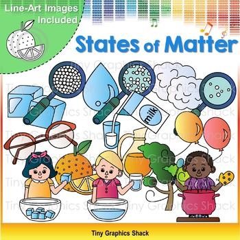 States of Matter (sold, liquid, gas) Clip Art